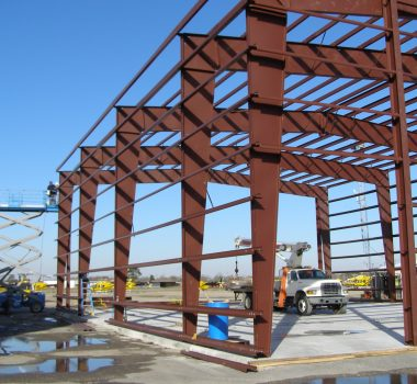 photo: steel framing of PHI